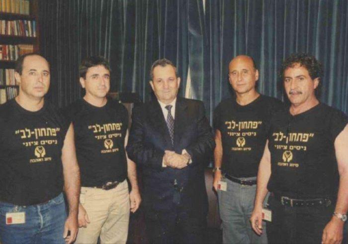 With former prime minister Ehud Barak